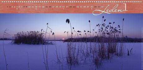 Dokeská pahorkatina – svítání nad Jestřebím, -22°C [z Novozámeckého rybníka u Zahrádek]